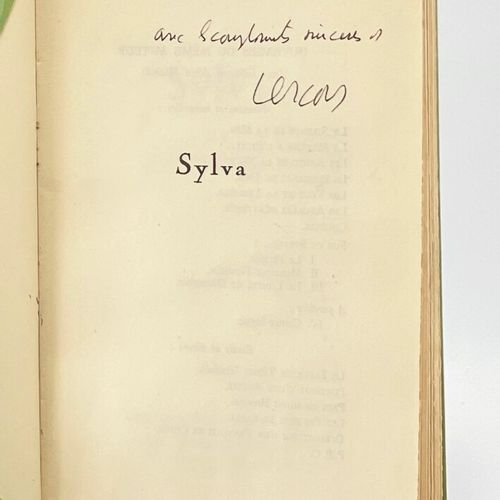 VERCORS. Sylva. VERCORS [Jean Bruller]. Sylva.  Paris, Bernard Grasset, collecti…