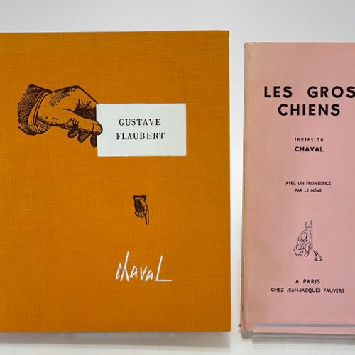 CHAVAL. Deux ouvrages. CHAVAL. Les Gros chiens. Textes de Chaval avec un frontis…