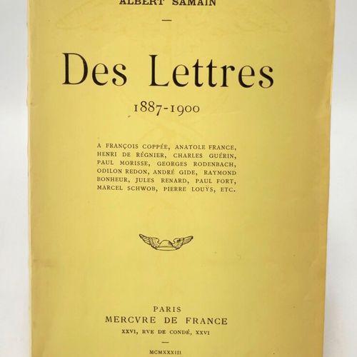 SAMAIN. Des lettres 1887 1900. SAMAIN Albert. Des lettres 1887 1900 à François C…