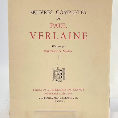 MAHN. VERLAINE. Oeuvres complètes. VERLAINE Paul. Oeuvres complètes illustrées p…