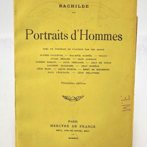 RACHILDE. Portraits d'hommes. RACHILDE. Portraits d'hommes. Avec un portrait de …