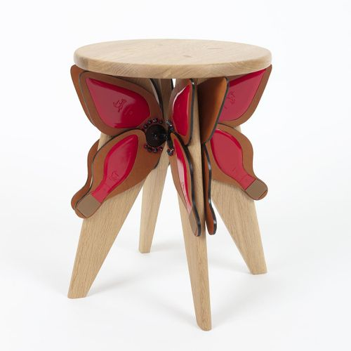 """Christian LOUBOUTIN Chrysalou  """"The stool is imbued with an immutable simplicity…"""