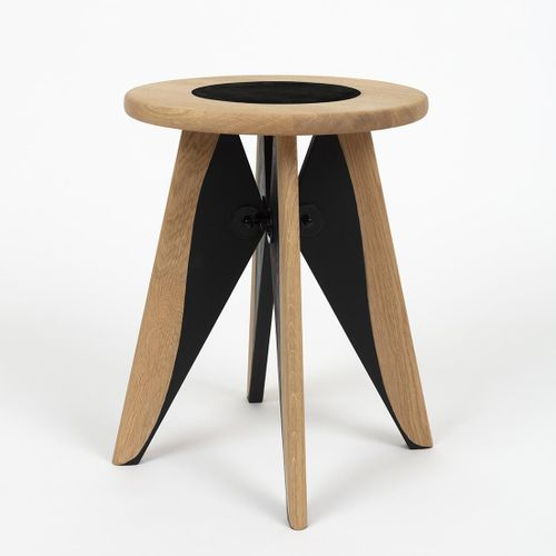 """Constance GUISSET Twist  """"The Solvay stool is dressed in black, disturbing and r…"""