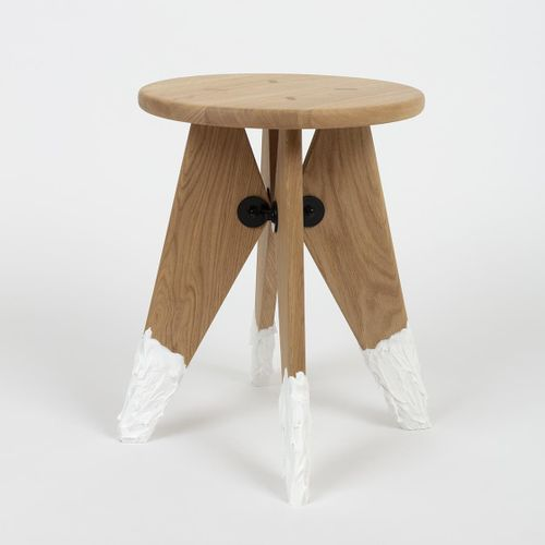 "Antoine+Manuel Solvay Chalet, acrylic  ""This stool reminded us of a chalet in Me…"