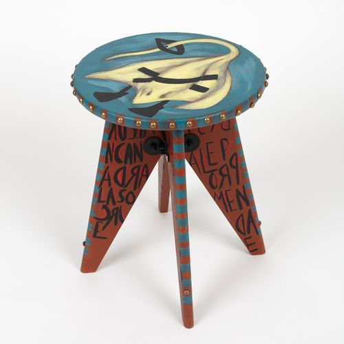 "Ara Starck Ray's totem pole  ""I wanted this stool as a totem pole, with a story …"