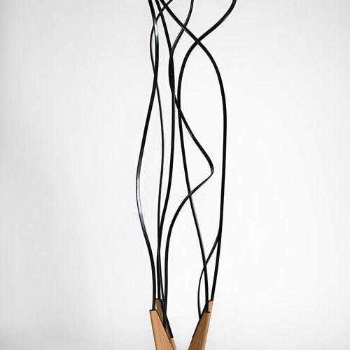 """Pablo Reinoso Le rêve de Prouvé, Solvay et acier, H: 2.16 m x W. 53 cm """"For the …"""