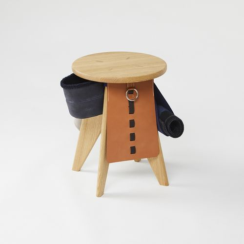 Hermès / Petit h The stool apron  Petit h, Hermès' re creation workshop, chose t…