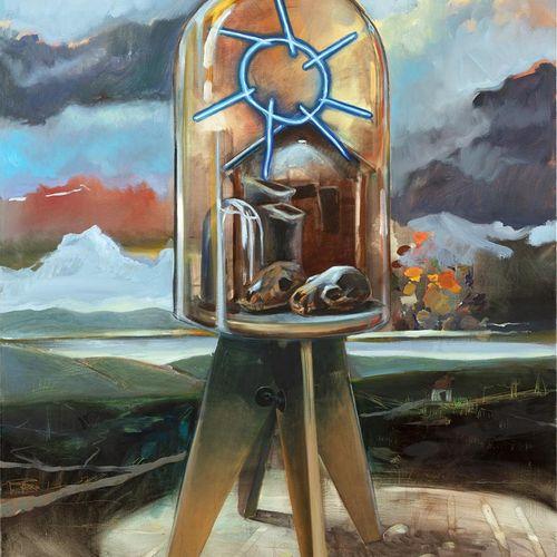 """Nicolas Marciano Sun under the Globe, oil on canvas, 146 x 114 cm  """"When the des…"""