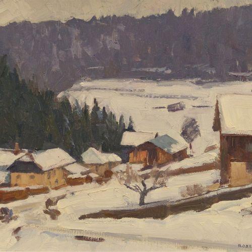 Robert FERNIER  (1895 1977)  Les Scieries de Derrière le Mont, 1960  Huile sur t…