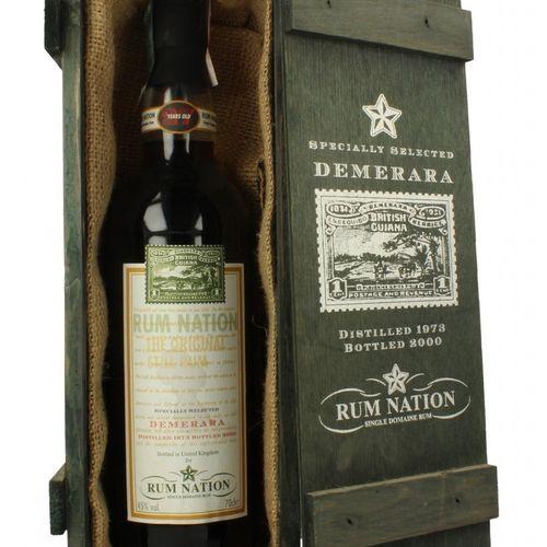 Demerara Rum Nation 27Yo 1973 2000, 70cl, 45% OFFERT PAR RUM NATION Bottled 2000…