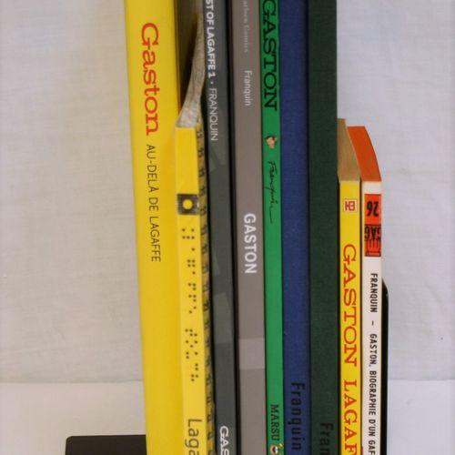 FRANQUIN FRANQUIN  GASTON LAGAFFE  Set of 9 books and albums on Gaston Lagaffe :…