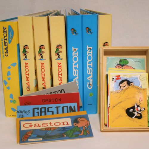 FRANQUIN FRANQUIN  GASTON LAGAFFE    Set of 7 binders on Gaston Lagaffe includin…