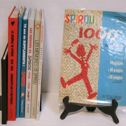 FRANQUIN FRANQUIN    Lot of 7 books on FRANQUIN:   Spirou Pirate, My Apple Diffu…