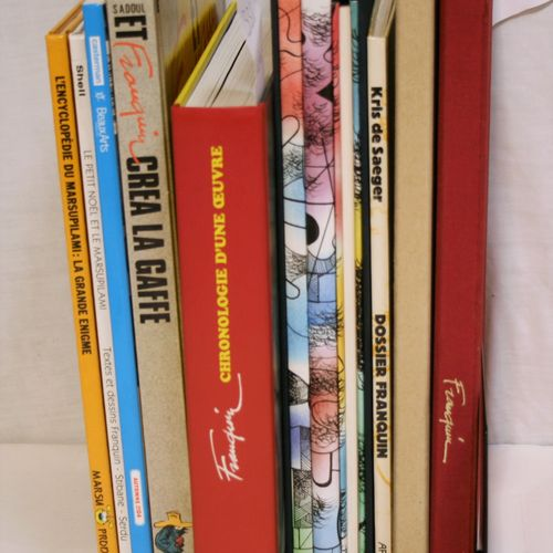 FRANQUIN FRANQUIN  Set of 11 books and comic strips on the author André FRANQUIN…