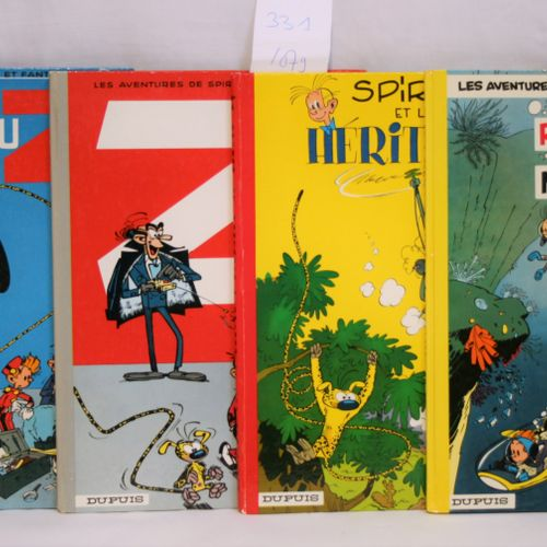 FRANQUIN FRANQUIN     Editions DUPUIS  Set of 4 comic strips :   Spirou and the …