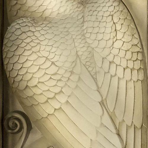 Rene Lalique, une paire de panneaux de séparation en verre Oiseaux Et Spirales, …