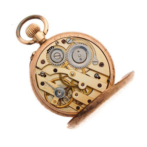 Montre de poche en or 9ct de la fin du 19ème siècle, avec cadran et revers gravé…