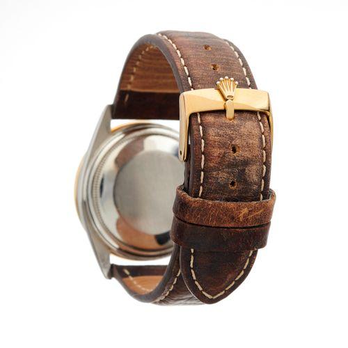 Rolex, une montre bracelet Oyster Perpetual Datejust en acier inoxydable, lunett…