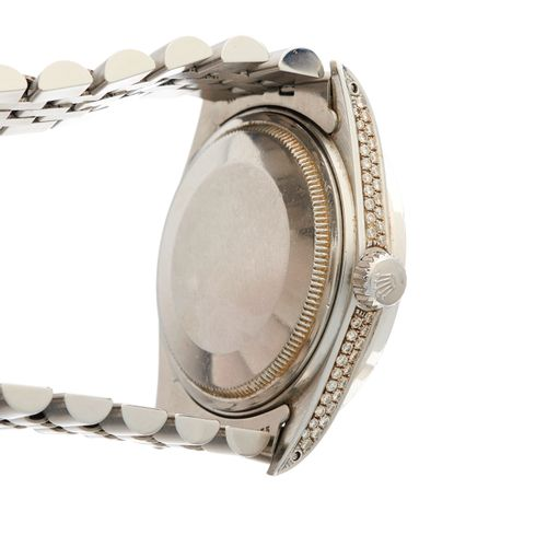 Rolex, une montre bracelet Oyster Perpetual Datejust en acier inoxydable, boîtie…