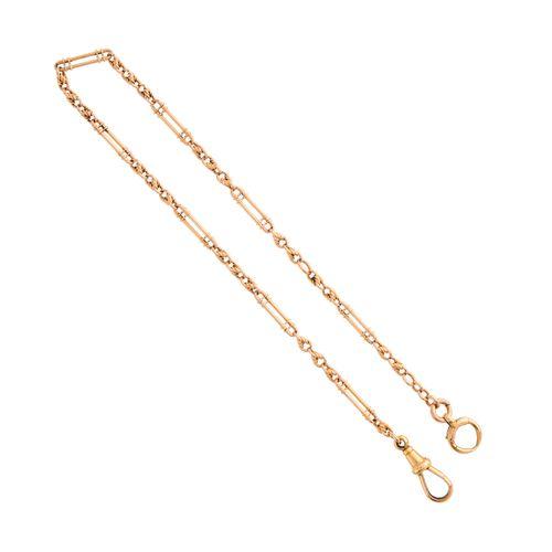 Une chaîne Albert du début du 20ème siècle en or 9ct à maillons fantaisie, avec …
