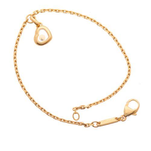 Chopard, un bracelet coeur Happy Diamonds en or 18ct, signé Chopard, numéroté 61…