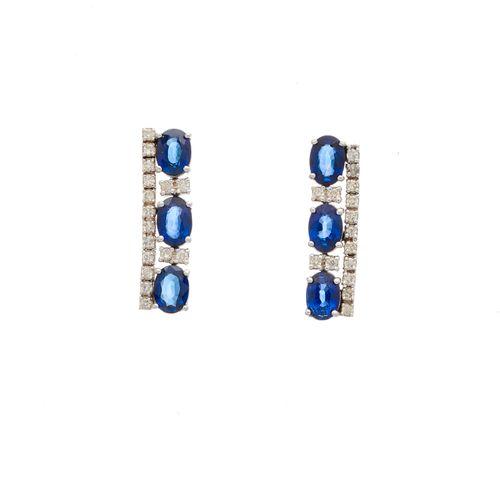 Un ensemble impressionnant de bijoux en or 18ct saphir et diamant, comprenant un…