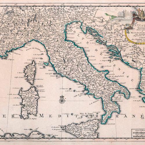 ITALY] Pieter VANDER AA Italy. Leide, Pieter Vander Aa, n.D. 230 x 300 mm to TC.…