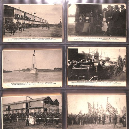 BELGIQUE. Ensemble 186 cartes postales, époques diverses.
