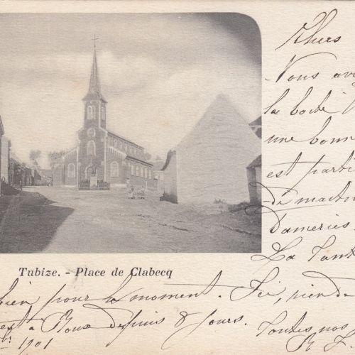 BRABANT WALLON. Ensemble 27 cartes postales, époques diverses: Nivelles, Tubize,…