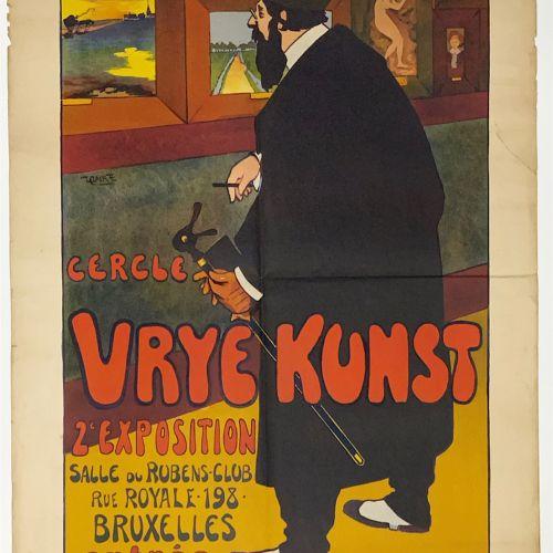 FRIADT Édouard FRIADT (1875 1930) Cercle Vrije Kunst. 2e Exposition Salle du Rub…