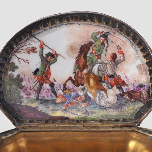 迈森博物馆藏品  Johann Gregor Hoeroldt 1696 1775 (署名)  约。1740/45  箭筒形式的塔巴蒂尔,釉瓷,彩色绘画,部分镀…