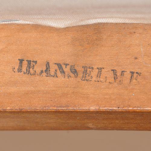 """詹赛尔梅之家  Ca.1860  椅子  紫檀木,镶嵌黄铜  框架底部标有 """"JEANSELME """"字样  高86厘米,宽42厘米,深42厘米    Jeans…"""
