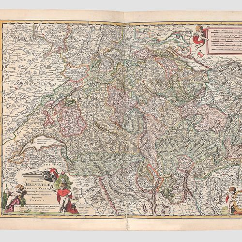 地图 阿姆斯特丹1679年  Novissima Totius Orbis Tabula Per Carolum Allard    历史地图集,装饰装订,有2…