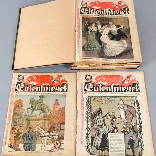Eulenspiegel Nr. 1 51 (1907/1908), ,gebundene Sammlung der ersten 51 Ausgaben de…