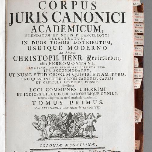 Christoph Heinrich Freiesleben (alias Ferromontanus), Corpus juris canonici acad…