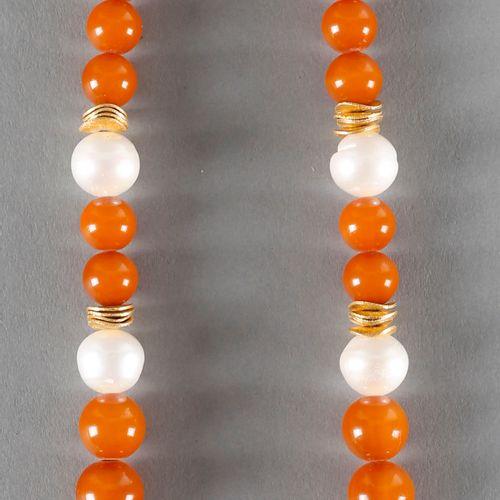 Perlen/Bernstein Kette, ,kugelförmige Bernsteincabochons (ca. 8 18 mm), Perlen (…