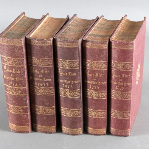 Rang und Quartiersliste der königlich Preußischen Armee (5 Bände), ,für die Jahr…
