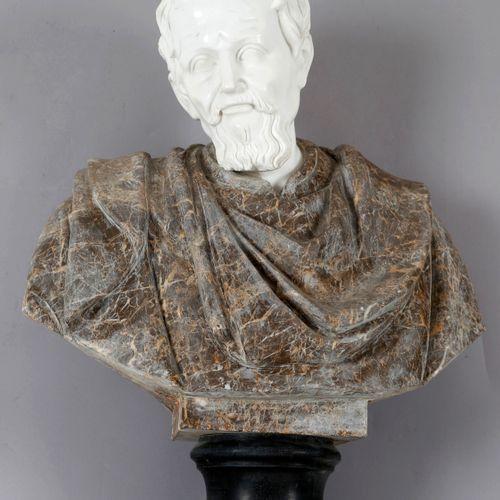 Büste eines griechischen Philosophen (wohl Aristoteles), 20. Jh., ,Kopf aus rein…