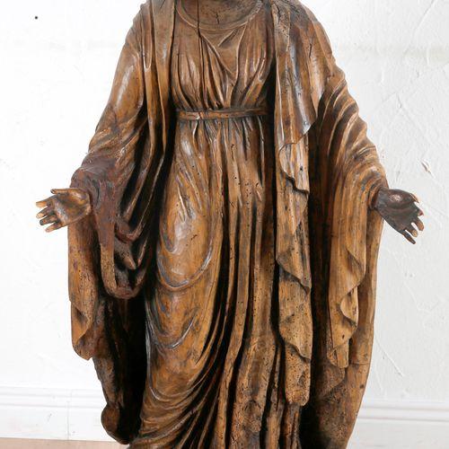 Maria Immaculata, 18. Jh. A. 19. Jh., ,Holzskulptur geschnitzt, schlichte Darste…