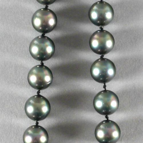 Halskette aus Tahitizuchtperlen, ,bestehend aus 30 Perlen mit einem Durchmesser …