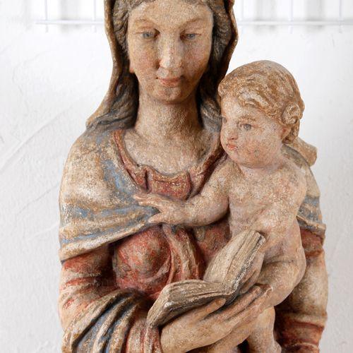 Maria mit Kind die Heilige Schrift vorzeigend, Lothringen/Champagne 1. H. 17. Jh…