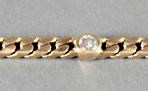 Armband mit 5 Brillanten, 585er GG, ,Brillanten von guter Reinheit und Farbe von…