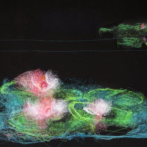 "MATHIEU DUCOURNAU (NÉ EN 1965 AU MAROC) ""Nymheas"", 2017. Lancio di filo di coton…"