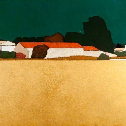 PEYER Jean Marc Vieux Mas Huile sur toile SBD, 81 x 100 cm