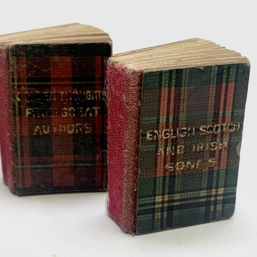 A set of miniature books by David Bryce & Son of Glasgow the Mite Series in Tart…