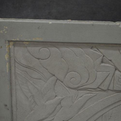 Bas relief Art Déco Bas relief Art Déco . Plâtre. Scène de chasse. Restauration …