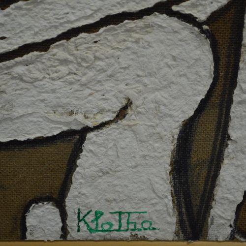 Toile Peinture acrylique sur support bois. Hommes. Petit accident en partie cent…