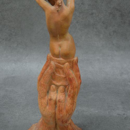 Marcel BOURAINE Très belle Statuette en terre cuite. Signée Marcel BOURAINE (188…