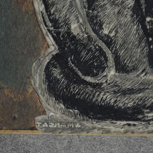 André MARGAT André MARGAT (1903 1999) selon signature. Planche d'impression. Sig…