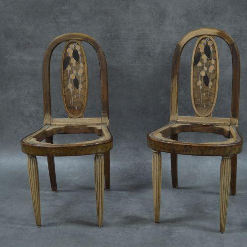 Michel Dufet Table et chaises Chaises et table Michel DUFET (1888 1985), attribu…